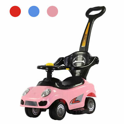 Ride On Toys 3 In 1 Baby Push Car,Convertible Toddler Walker&Stroller • 29.99£