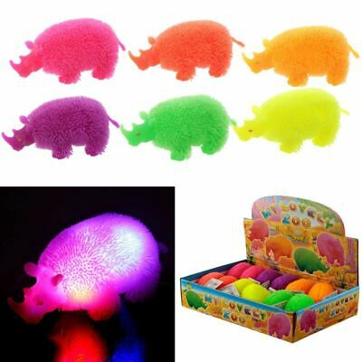 Colourful Rhino Squidgy LED Puff Pet, Christmas Gift/Present/Stocking Filler • 2.50£