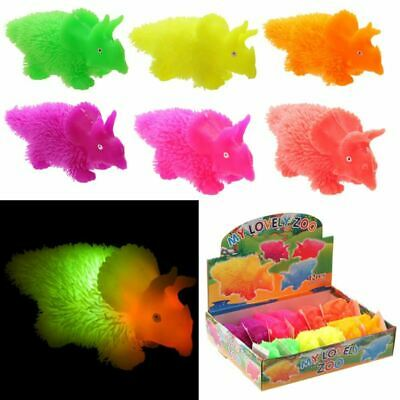 Squidgy Light Up Colourful Puff Pet Triceratops, Gift/Stocking Filler • 2.50£