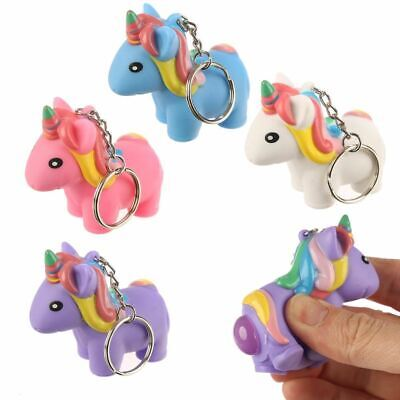 Squeezy Pooping Unicorn Keyring Key Chain, Xmas Gift/Present/Stocking Filler • 2.50£