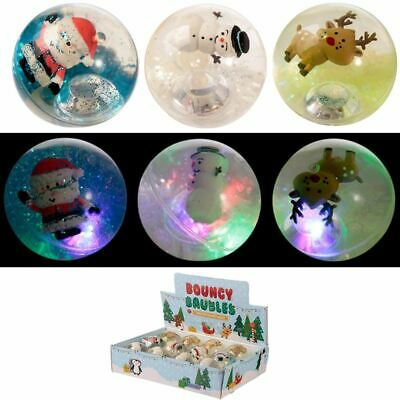 Christmas Characters LED Flashing Bouncy Ball, Gift/Present/Stocking Filler • 2.50£
