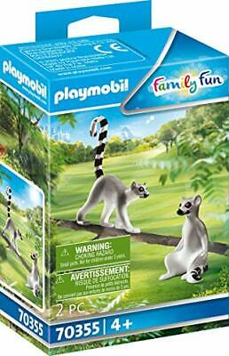 Playmobil Family Fun 70355 Two Ring Tailed Lemurs Play Zoo Animal Toy Set • 10.99£