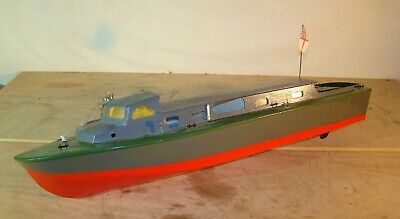 Vintage Navy Harbour Lauch. A Large (46 ) Model Motor Boat For Radio Control • 42£