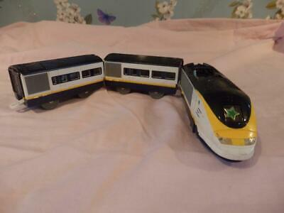 Tomy  Trackmaster  Eurostar Battery Operated Train+2 Carriages G W O • 3.19£