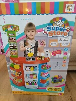 Mini Play Kids Superstore Easter Gift Birthday Present Kid Pretend Play Store • 22£