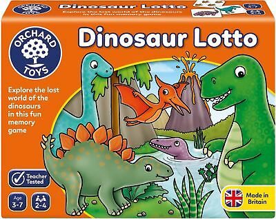Orchard Toys DINOSAUR LOTTO Educational Game Puzzle BN • 10.99£