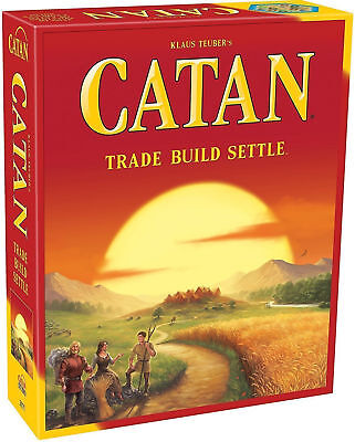 Catan Settlers Board Game 5th Edition, Best Cards Game FREE UK Delivery Same Day • 27.95£
