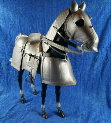 Vintage Marx Knights Valour Armoured Horse Silver 1960s  • 19.99£