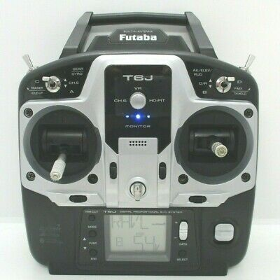 Futaba T6j 2.4ghz S-fhss 6 Channel Transmitter Good Condition+batteries • 57.99£
