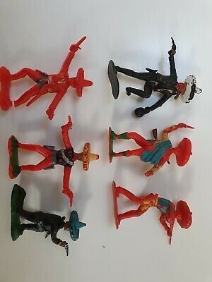 Vintage Crescent Mexicans 60mm Toy Soldiers X6 • 4.10£