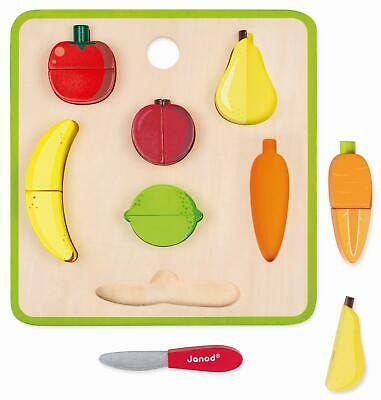 Janod GREEN MARKET CHUNKY FRUITS AND VEGETABLES SET Activity Toy BN • 22.99£