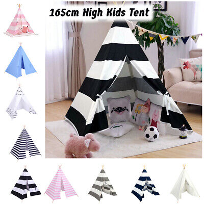Multi Color 65  High Kids Tent Children Teepee Wigwam Play Indoor Outdoor Toys • 23.99£
