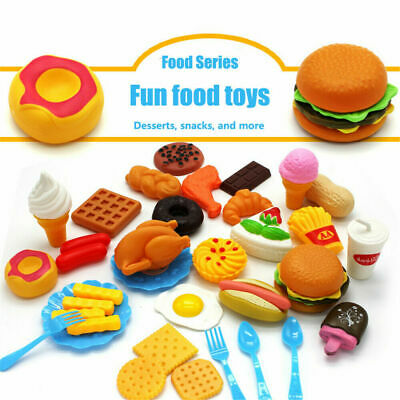 34pcs Kids Toy Pretend Role Play Kitchen Pizza Food Cutting Sets Children Gifts • 8.99£