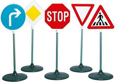 Klein 5 PIECE TRAFFIC SIGN SET Role Play Toy Driving Outdoor BN • 31.95£