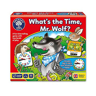 Educational Game,What's The Time, Mr Wolf Game, Orchard Toys, Children Game NEW • 11.54£