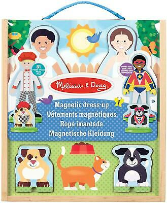 Melissa & Doug OCCUPATIONS MAGNETIC PLAY DRESS-UP PLAY SET Wooden Toy BN • 17.94£