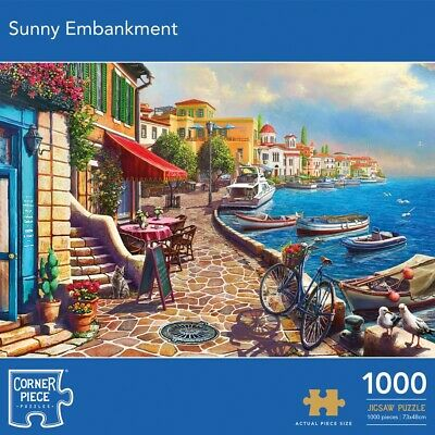 Sunny Embankment 1000 Piece Jigsaw Puzzle, Toys & Games, Brand New • 9£
