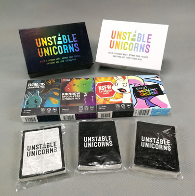 Unstable Unicorns Core Card Base Game With All Expansion Pack New Sealed Party • 10.50£