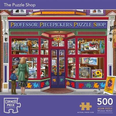 The Puzzle Shop 500 Piece Jigsaw Puzzle, Toys & Games, Brand New • 7£