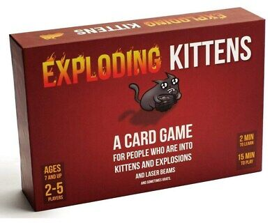 Exploding Kittens Card Game Party Game Family Friendly • 8.89£