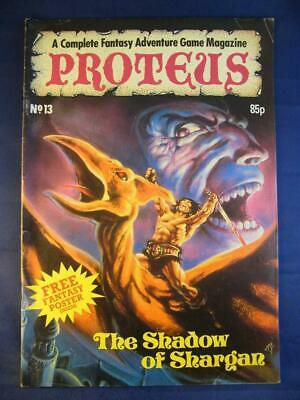 Proteus #13 Shadow Of Shargan Includes Poster- Fantasy Adventure Game Magazine • 27.95£