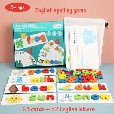 Montessori Toys For Kids English Spell Words Math Early Learning Educational Toy • 11.86£