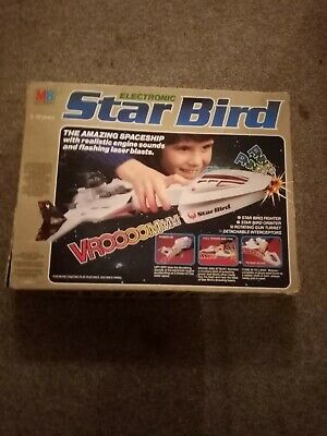 Vintage MB Electronics Star Bird / Space Ship -retro -w/ Box And Instructions • 34£