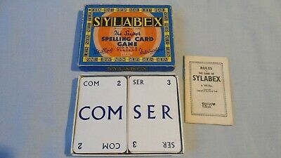 VINTAGE PEPYS CARD GAME SYLABEX SPELLING GAME 1950s BOXED COMPLETE • 4.99£