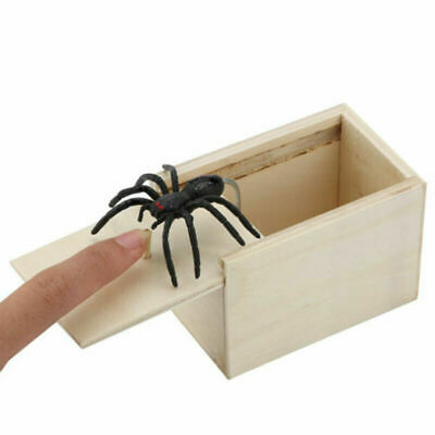 Prank Fake Spider Scare Box Hidden In Case Trick New Gifts Play Wooden Toy • 3.59£