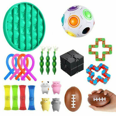 22Pcs Fidget Toys Set Sensory Tools Bundle Stress Relief Hand Kids Adults Toy UK • 15.99£