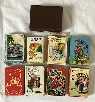 Job Lot Of Vintage Playing Cards Games Inc Speed, Old Maid Etc Incomplete Packs. • 12.50£