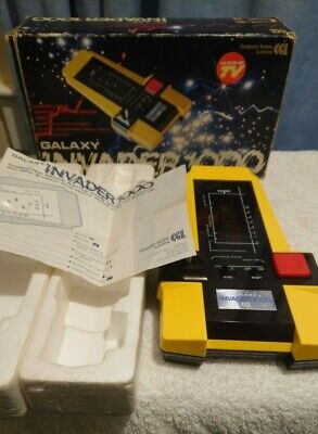VINTAGE RETRO GALAXY INVADER CGL 1000 ARCADE HANDHELD GAME 1980s **Working** • 90£