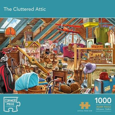 The Cluttered Attic 1000 Piece Jigsaw Puzzle, Toys & Games, Brand New • 9£