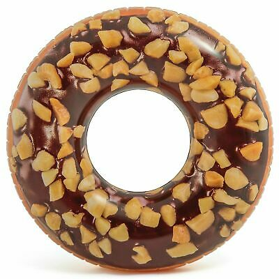 Nutty Chocolate Donut With Realistic Printing,For14 Years And Up,Inflatable Tube • 36.86£