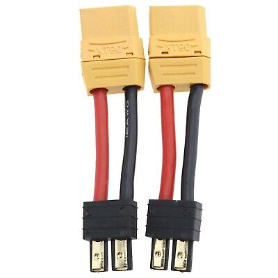 2Pcs 14AWG XT90 Female To Male RC Battery Connector Adapter Lead Cable • 7.47£