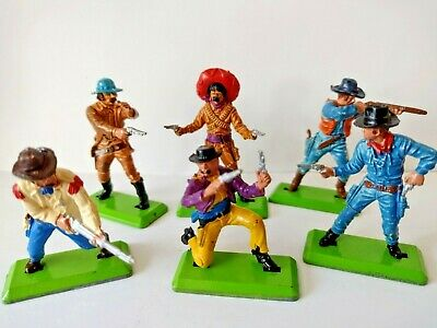 Britains Deetail First Series Cowboys Colour Variants On Foot  Set Of 6. • 39.99£