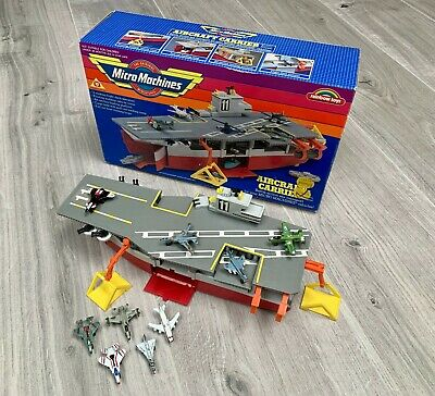Micro Machines 1987 Vintage Galoob Aircraft Carrier Boxed + 9 Imperial Planes • 9.99£