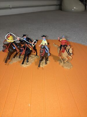 Timpo Vintage Mounted Cowboys • 19.99£