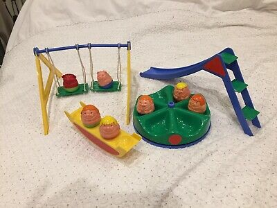 Retro 1970s Airfix Weebles Playground & 7 Weebles (no Box) • 30£
