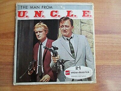 GAF View-Master 3D Reel Set 1966 MAN FROM UNCLE TV Series B484 Zombie Affair -  • 18£