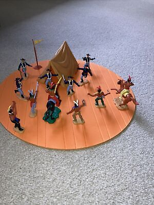 Timpo Cavalry Soldiers And Indians Attack • 39.99£