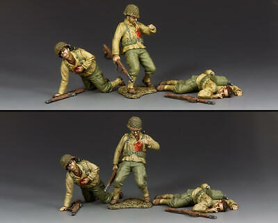 KING AND COUNTRY D.DAY Dead & Wounded GI's DD317 • 130.95£