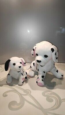 Animagic Ruby & Lottie Interactive Dalmatian Mother & Pup Kids Soft Toy Plush • 9.99£