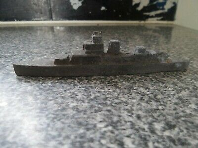 1930's Solid Lead Warship, Possibly Crescent Toys. • 15.50£