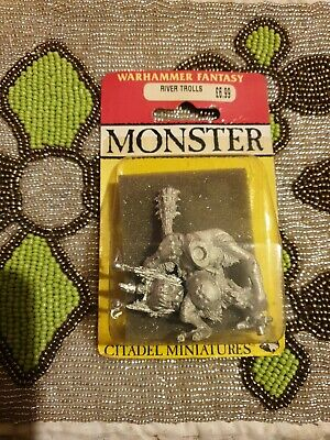 Warhammer Fantasy MONSTER River Trolls Games Workshop Citadel Miniatures Very... • 30£