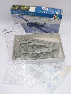 ITALERI 2644 TBF/TBM 1 AVENGER TORPEDO BOMBER 1/48 MODEL KIT (Lot1) • 45£