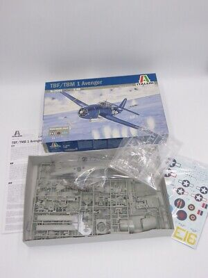 ITALERI 2644 TBF/TBM 1 AVENGER TORPEDO BOMBER 1/48 MODEL KIT (Lot2) • 40£