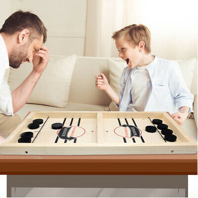 Fast Sling Puck Hockey Game Folding Magnetic Chess Set Wooden Family Game A47 • 32.83£