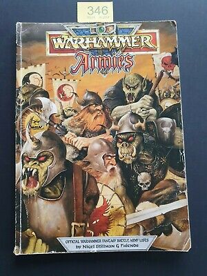 WARHAMMER ARMIES FANTASY BATTLE ARMY LISTS 1991 SC UNPUNCHED 178 Pgs • 21.99£