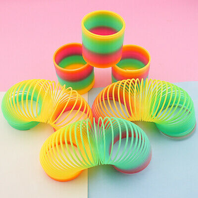 Large Rainbow Spring Coil Slinky Fun Kids Toy Magic Stretchy Bouncing • 2.99£